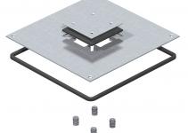 7400613 - OBO BETTERMANN Крышка монтажного основания UZD250-3 для Telitank 282x282x4 мм (сталь) (DUF 250-3DAT).