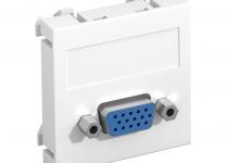 6104610 - OBO BETTERMANN Мультимедийная рамка VGA Modul45 (белый) (MTG-VGA S RW1).