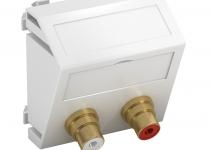 6105054 - OBO BETTERMANN Мультимедийная рамка Audio-Cinch Modul45 (белый) (MTS-2R L RW1).