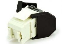 VOLOCK5EU8-1 - Розеточный модуль кат.5е, неэкранированный,  монтаж без инструмента TIA 568A/B, белый UTP