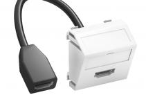 6104844 - OBO BETTERMANN Мультимедийная рамка HDMI Modul45 (серебристый) (MTS-HD F AL1).