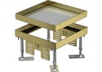 7409002 - OBO BETTERMANN Кассетная рамка RKN2 ном.размер 4 200x200 мм (латунь) (RKN2 4 MS 20).