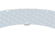 6231543 - OBO BETTERMANN Крышка угловой секции 400мм (WDBRL 90 40 DD).