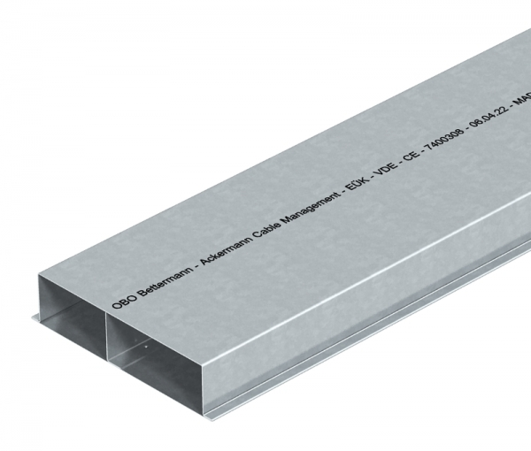 7400308 - OBO BETTERMANN Кабельный канал для заливки в стяжку EUK 2000x190x48 мм (сталь) (S2 19048).
