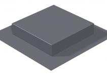 7425600 - OBO BETTERMANN Опалубка для лючков номинального размера 4 (полистирол,красный) (SK HB 201X201).