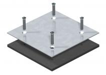 7407076 - OBO BETTERMANN Заглушка для монтажного отверстия Telitank 100x100x3 мм (сталь) (DAT F).