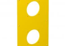 6109879 - OBO BETTERMANN Накладка блока питания VH для монтажа устройств, 160x105x3 мм (ПВХ,желтый) (VHF-P8).