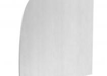 6115945 - OBO BETTERMANN Торцевая заглушка правая дизайнерского канала тип Soft (алюминий) (GAD ER Soft EL).