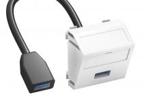 6104937 - OBO BETTERMANN  нет серт Мультимедийная рамка USB 3.0 A-A Modul45 (черный) (MTS-U3A F SWGR1).