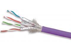 9T7L4-E12 - Кабель кат.7A S/FTP 1200МГц, LS0H, фиолетовый, 305м