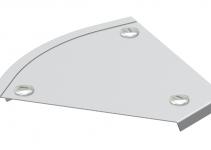 7133901 - OBO BETTERMANN Крышка угловой секции 45° 100мм (DFB 45 100VA4301).