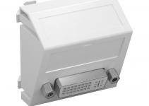 6104748 - OBO BETTERMANN Мультимедийная рамка DVI Modul45 (серебристый) (MTS-DVI S AL1).