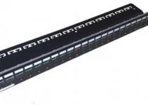 VOLPPCBF24K - Коммутационная панель 24 порта RJ-45 Volition®,1U, универсальная черная (пустая)