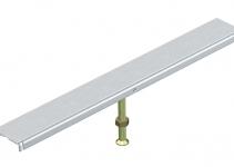 7424940 - OBO BETTERMANN Стыковая опора крышки канала OKA-W 400 мм (сталь) (DSU2 400 4030).