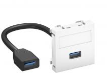 6104925 - OBO BETTERMANN Мультимедийная рамка USB 3.0 A-A Modul45 (черный) (MTG-U3A F SWGR1).
