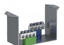 6109854 - OBO BETTERMANN Суппорт для монтажа модульных устройств (с клеммниками) в блок VHF (сталь) (VHF-T2).