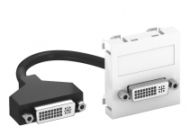 6104760 - OBO BETTERMANN Мультимедийная рамка DVI Modul45 (серебристый) (MTG-DVI F AL1).