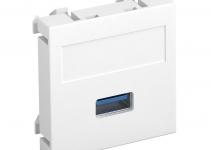 6104874 - OBO BETTERMANN Мультимедийная рамка USB 3.0 A Modul45 (белый) (MTG-U3A S RW1).