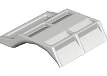 1197762 - OBO BETTERMANN Пластина для U-образной скобы 70-76мм (2058FW 76 LGR).