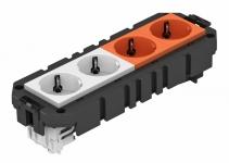 7404638 - OBO BETTERMANN Укомплектованная модульная рамка MT3 для 2-х цепей тока (AMT4 2WS2ORVCGS).