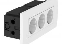 6119414 - OBO BETTERMANN Укомплектованный розеточный блок AR45 (3xModul45,84x185x59 мм,белый) (SDE-RW D0RW3).