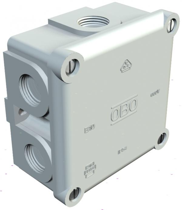 2002140 - OBO BETTERMANN Распределительная коробка 91x91x51 (B 10 M 5).