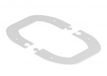 6290387 - OBO BETTERMANN Стыковая рамка для колонны ISSDM45R 185x135x2 мм (сталь,белый) (WAGDM45).