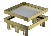 7409062 - OBO BETTERMANN Кассетная рамка RKN2 UZD3 ном.размер 9 243x243 мм (латунь) (RKN2 UZD3 9MS20).