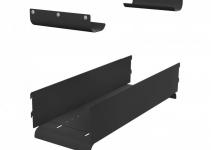 HDWM-VMR-ACT - Регулируемый желоб для организации кабеля между вертикальными организаторами VMR, установленными спереди и сзади шкаф Contegа, включая верхний ограничитель радиуса изгиба, диапазон регулировок от 440 до 750 мм