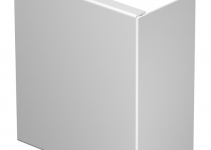 6183913 - OBO BETTERMANN Торцевая заглушка кабельного канала WDK 80x170 мм (ПВХ,светло-серый) (WDK HE80170LGR).