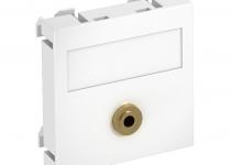 6104946 - OBO BETTERMANN Мультимедийная рамка Audio-Klinke Modul45 (белый) (MTG-MK L RW1).
