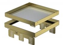 7409064 - OBO BETTERMANN Кассетная рамка RKN2 UZD3 ном.размер 9 243x243 мм (латунь) (RKN2 UZD3 9MS25).