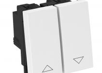 6117657 - OBO BETTERMANN Выключатель для рольставней 10 A, 250 В (белый) (RT-BS1 RW1).