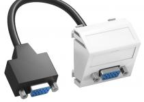 6104670 - OBO BETTERMANN Мультимедийная рамка VGA Modul45 (белый) (MTS-VGA F RW1).