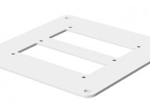 6290130 - OBO BETTERMANN Напольная пластина для электромонтажной колонны (сталь,белый) (ISSBP140110RW).
