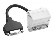 6104766 - OBO BETTERMANN Мультимедийная рамка DVI Modul45 (белый) (MTS-DVI F RW1).