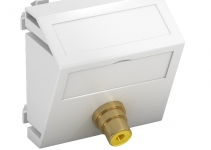 6105006 - OBO BETTERMANN Мультимедийная рамка Video-Cinch Modul45 (белый) (MTS-R F RW1).