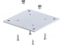 6290416 - OBO BETTERMANN Напольная пластина для электромонтажной колонны (сталь,серебристо-белый) (ISS160160BP).