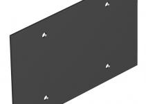 7408116 - OBO BETTERMANN Крышка глухая для напольного бокса Telitank 142x88 мм (ПВХ,черный) (T12L P02S 9011).