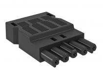 6108072 - OBO BETTERMANN Штекер 5-полюсный Modul45connect (черный) (BT-S GST18i5p SW).