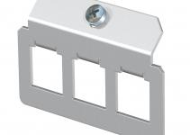 7407833 - OBO BETTERMANN Суппорт для установки модулей в монтажную рамку MTU тип F (сталь) (MTM 3F).