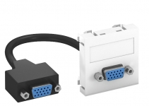 6104658 - OBO BETTERMANN Мультимедийная рамка VGA Modul45 (белый) (MTG-VGA F RW1).