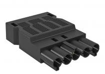 6108070 - OBO BETTERMANN Штекер 5-полюсный Modul45connect (черный) (ST-S GST18i5p SW).