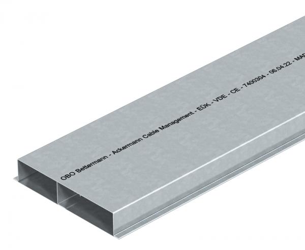 7400316 - OBO BETTERMANN Кабельный канал для заливки в стяжку EUK 2000x250x38 мм (сталь) (S2 25038).