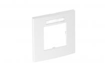6119338 - OBO BETTERMANN Рамка одинарная Modul45 (с полем д/маркировки,вертик.,84x84 мм,белый) (AR45-BSF1 RW).