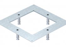 7400420 - OBO BETTERMANN Крышка усиленная монтажного основания UZD250-3/4 (h=100-140 мм,сталь) (DUG 250-3 4SL100).