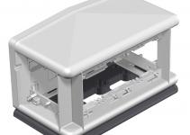 7408300 - OBO BETTERMANN Напольный бокс Telitank 225x125x125 мм (полиамид,черный) (T4L00C 9011).