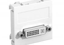 6104730 - OBO BETTERMANN Мультимедийная рамка DVI Modul45 (белый) (MTG-DVI S RW1).