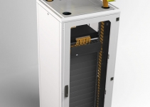 OPW-3016RDC-YL - OptiWay 300-160, откидная крышка для переходника, цвет - желтый