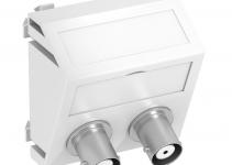 6105102 - OBO BETTERMANN Мультимедийная рамка Audio-BNC Modul45 (белый) (MTS-2BC F RW1).